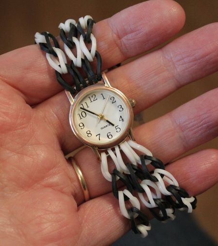 Rubberband watch band