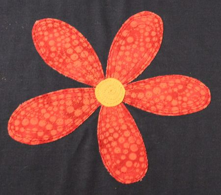 Flower Mug Rug Applique