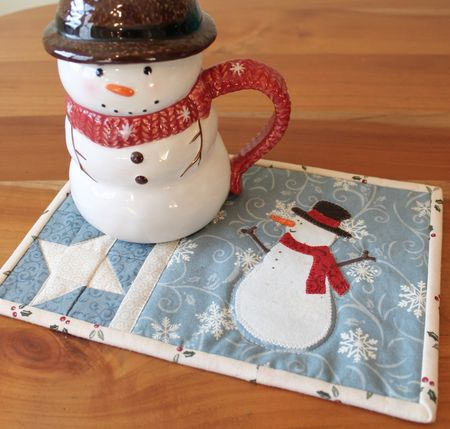 Snowman Mug and Snowman Mug Rug