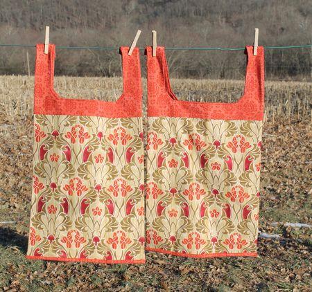 Orange Grocery Bags