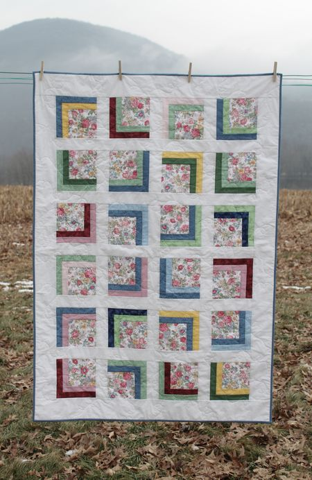Square One Baby Girl Quilt