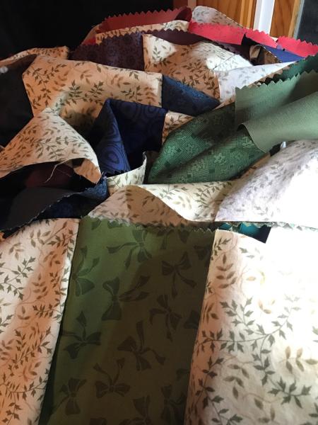 Stitching quilt top