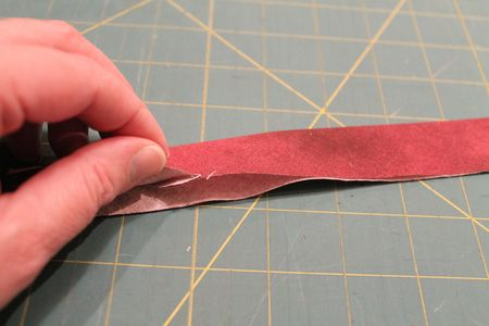 Pressed bias binding