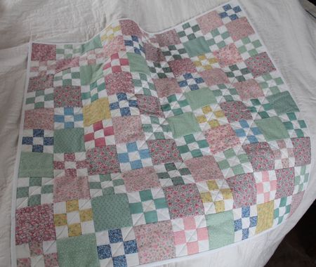 Baby Quilt from Leftover Blocks